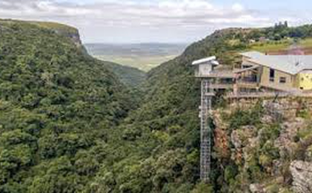 A short drive from Sabie Self Catering Apartments.  Graskop Gorge Lift is an experience not to miss.